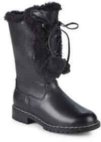 Stuart Weitzman Luge Heidi Faux Fur Trim Boots