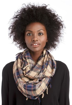 Sole Society Plaid Scarf with Fringe
