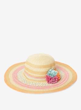 Dorothy Perkins Coloured Raffia Pom Hat