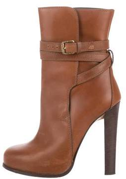 DSQUARED2 Leather Round-Toe Ankle Boots