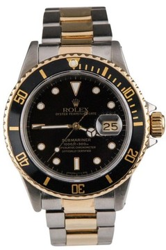 Rolex Submariner Two-Tone Black Dial Watch