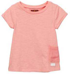 7 For All Mankind Garment Dyed Tee (Little Girls)