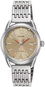 Citizen LTR FE6080-54X Gold Silver Stainless Steel Eco-Drive Quartz Women