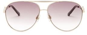 Swarovski Women's Crystal Aviator Sunglasses