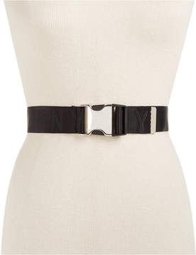 DKNY Seat Belt-Buckle Logo Belt, Created for Macy's