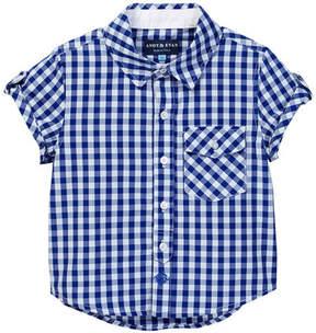 Andy & Evan Short Sleeve Gingham Shirt (Toddler & Little Boys)