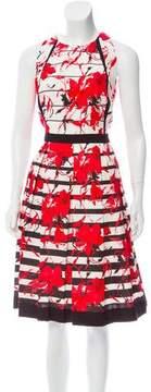 Carmen Marc Valvo Floral Print Midi Dress w/ Tags
