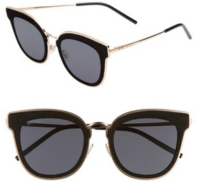 Jimmy Choo Women's Niles 63Mm Oversize Cat Eye Sunglasses - Gold Black