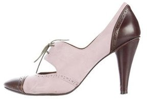 Via Spiga Suede Oxford Pumps