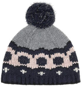 Jean Bourget Woollen hat with a bobble