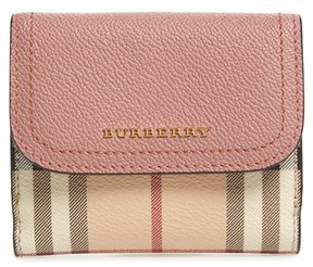 Burberry Women's Luna French Haymarket Check Wallet - Pink - PINK - STYLE