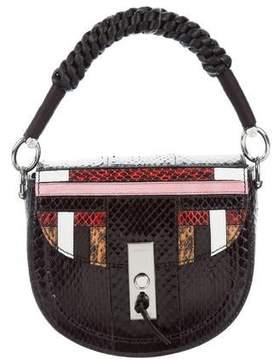 Altuzarra Python Mini Ghianda Saddle Bag w/ Tags