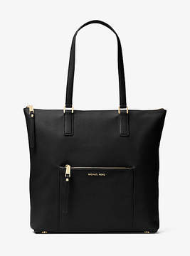 Michael Kors Ariana Large Leather Tote - BLACK - STYLE