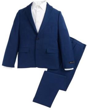 Boy's Michael Kors Mini Tonal Stripe Wool Suit
