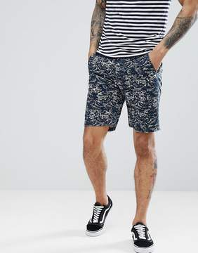Bellfield Slim Fit Chino Short With Wave Print