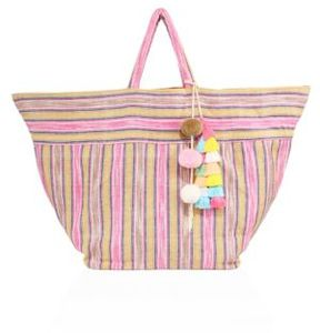 JADEtribe Large Samui Stripe Beach Bag