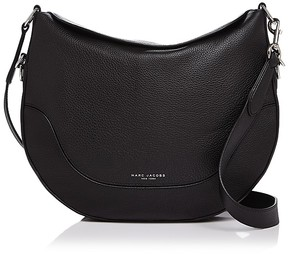 Marc Jacobs The Drifter Leather Hobo - BLACK/SILVER - STYLE
