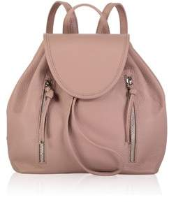 Joanna Maxham High Line Backpack Pebbled Leather Pink.
