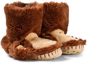 Hatley Brown Monkey Kids Slippers