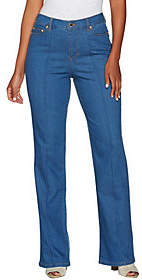 C. Wonder Regular Boot Cut Jeans with Seaming Detail