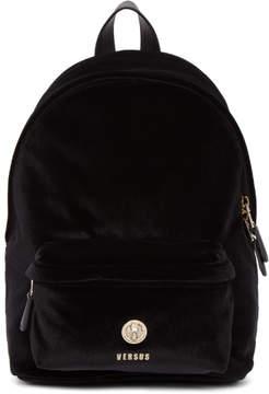 Versus Black Velvet Lion Backpack