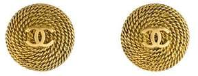 Chanel CC Rope Button Earrings