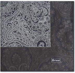 Brioni Floral-paisley silk pocket square