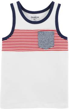 Osh Kosh Oshkosh Bgosh Boys 4-12 Pocket Tank Top