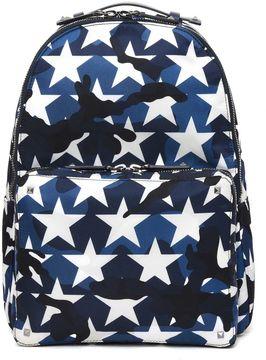 Valentino Stars Printed Backpack