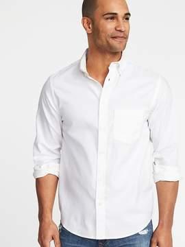 Old Navy Regular-Fit Clean-Slate Built-In Flex Oxford Shirt For Men
