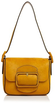 Tory Burch Sawyer Small Calf Hair Shoulder Bag - CURRY/GOLD - STYLE