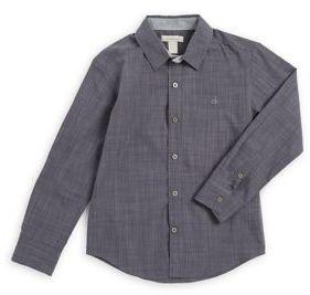 Calvin Klein Jeans Young Boy's Cotton Button-Down Shirt