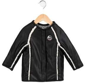 Ikks Girls' Faux Shearling-Trimmed Coated Jacket w/ Tags