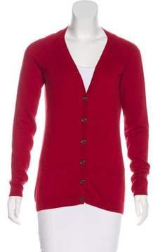 Burberry V-Neck Long Sleeve Cardigan