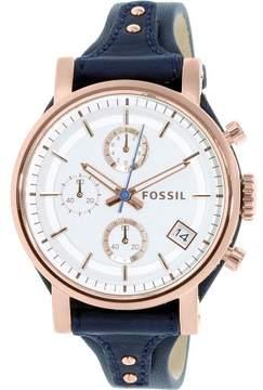 Fossil Women's ES3838 Original Boyfriend Leather Watch, 38mm