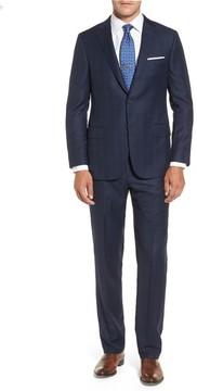 Hickey Freeman Men's Classic B Fit Plaid Wool Suit