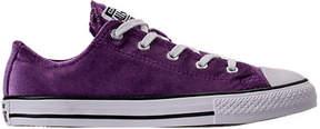 Converse Girls' Grade School Chuck Taylor Ox Velvet Casual Shoes