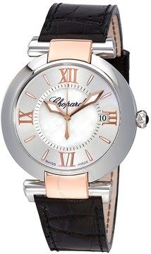 Chopard Imperiale Mother of Pearl Dial Black Leather Strap Ladies Watch 388532-6001
