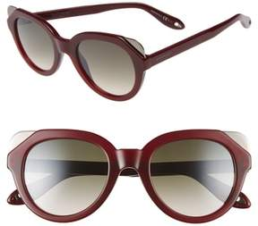 Women's Givenchy 50Mm Retro Sunglasses - Burgundy