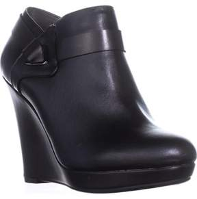 Bar III B35 Tiger Wedge Booties, Black.