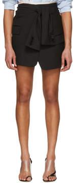 Alexander Wang Black Asymmetric Tie Front Miniskirt