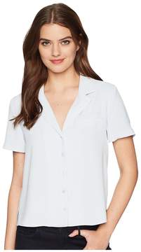 J.o.a. Button Down Short Sleeve Shirt Women's Clothing