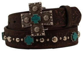 Ariat Western Womens Belt Studded Leather Cross A1517802