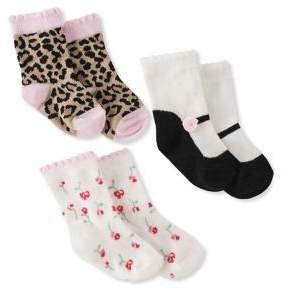 Kate Spade Baby Girl's Three-Piece Assorted Cotton Socks