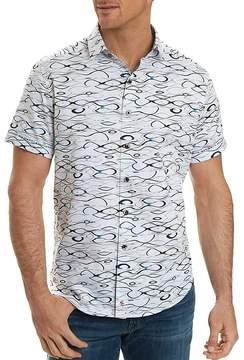Robert Graham Illusions Printed Short Sleeve Button-Down Shirt