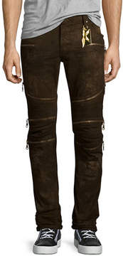Robin's Jeans Dusty Road Coated Moto Denim Jeans