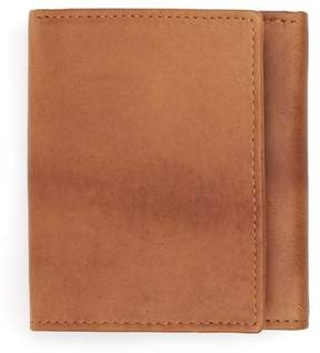 Topman Tan Leather Trifold Wallet