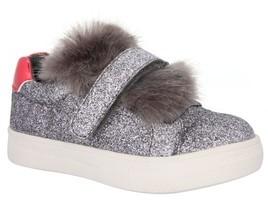 Nina Girl's Sunshine Glittery Faux Fur Sneaker