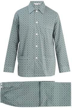 Derek Rose Ledbury 5 cotton-batiste pyjama set