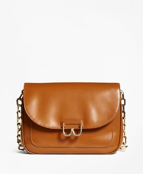 Brooks Brothers Glazed Leather Babe Shoulder Bag